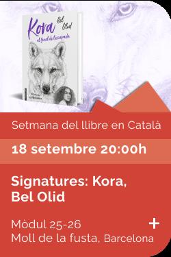 Agost 2021 Setmana llibre català - Signatures Kora