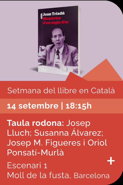 Agost 2021 Setmana llibre català - Memòries d'un segle d'or
